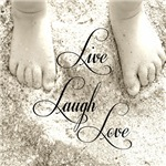 Live Laugh Love Beach Scene