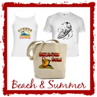 Beach and Summer T-Shirts and Tote Bags