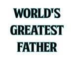 WORLDS GREATEST FATHER DARK TEAL