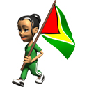 Cute 3D Guyana Flag