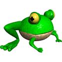Cute 3D Frog