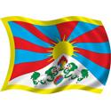 Wavy Tibet Flag