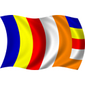 Wavy Buddhist Flag