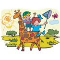 Children & Giraffe