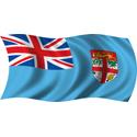 Wavy Fiji Flag