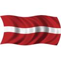 Wavy Latvia Flag