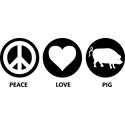 Peace Love Pig