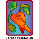 I Speak Vegetarian T-shirt & Gift