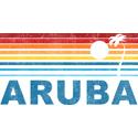 Retro Palm Tree Aruba