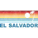 Retro El Salvador Palm Tree