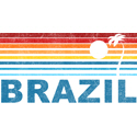 Retro Brazil Palm Tree