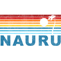Retro Nauru Palm Tree