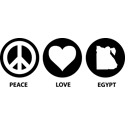 Peace Love Egypt