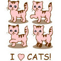 I Love Cats T-shirts & Gifts