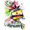 Flower Brunei T-shirt