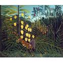 Henri Rousseau Tiger and Buffalo