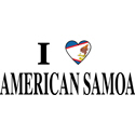 I Heart American Samoa T-shirts