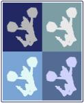 Cheerleading (blue boxes)