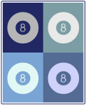 Billiards (blue boxes)