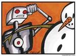 Snowman Vs. Robot