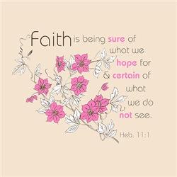 Faith (pink & brown)