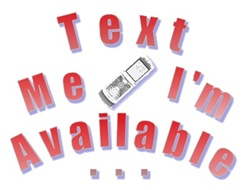 Text Me I'm Available RED
