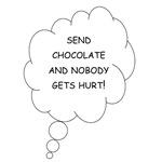 Send Chocolate Maternity Shirt