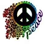 Rainbow Peace Swirl