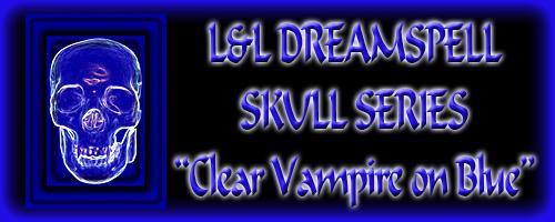 Skulls etc. - Clear Skull on Blue