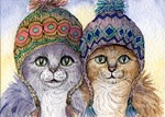 The knitwear cat sisters