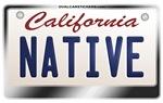 California License Plate [NATIVE]