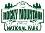 Rocky Mountain National Park Green Sign Design