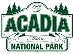 Acadia National Park Green Sign