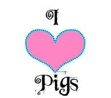 LOVE PIGS (ARTISTIC PINK HEART)