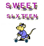 SWEET SIXTEEN (MOUSE LETTERS)