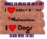BONES TO WEAR OF DIFF BREEDS