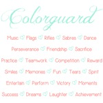 Colorguard Mint Green and Coral Script