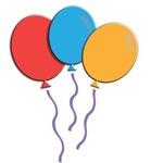 Colorful Balloon Trio
