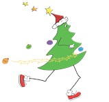 Christmas Tree Runner T-Shirts, Ornaments, Gifts