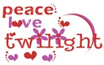 Peace Love Twilight T-Shirts and Gifts