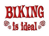 <b>BIKING IS IDEAL</b>