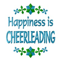 <b>HAPPINESS IS CHEERLEADING</b>