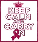 Multiple Myeloma Keep Calm Carry On Shirts