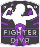 Pancreatic Cancer Fighter Diva Shirts