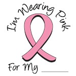 I'm Wearing Pink Ribbon Breast Cancer T-Shirts