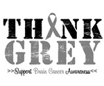 Think Grey Brain Cancer T-Shirts & Gifts