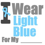 I Wear Light Blue Prostate Cancer T-Shirts