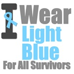 I Wear Light Blue For All Survivors T-Shirts &
