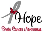 Brain Cancer Hope Butterfly T-Shirts & Gifts