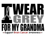 I Wear Grey (Grandma) Brain Cancer Shirts & Gifts